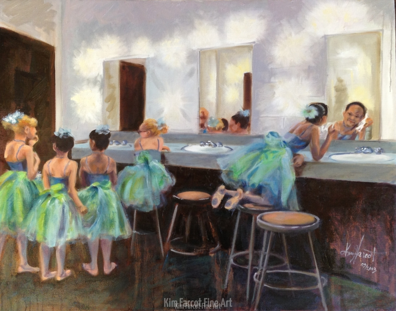 Young Dancers in Green