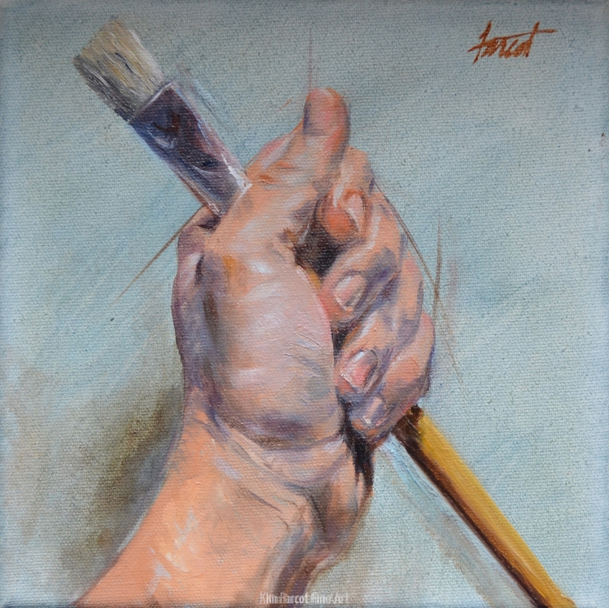 Artist's Hand, private collection, Saudi Arabia