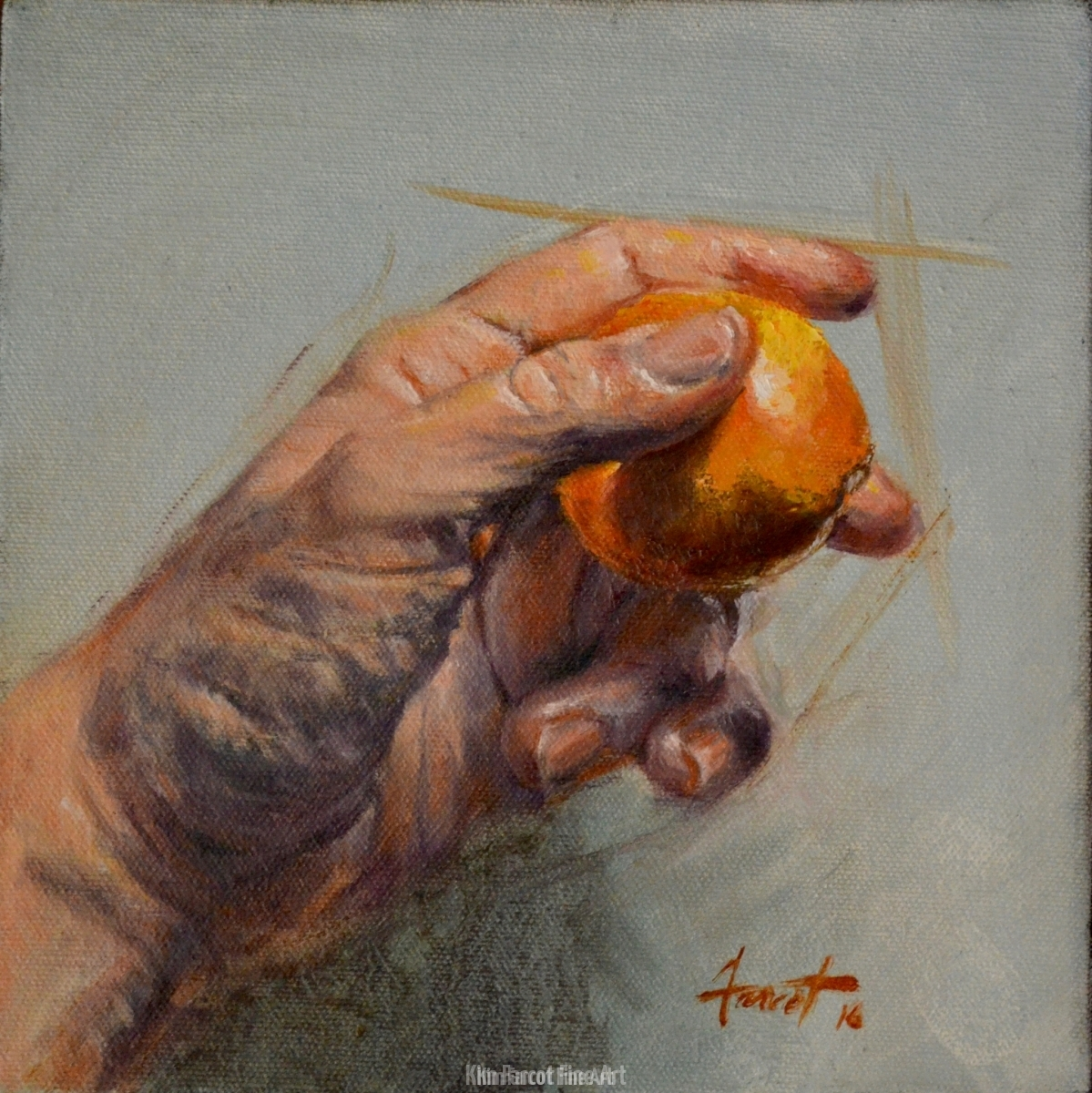 Holding Orange, private collection, Saudi Arabia