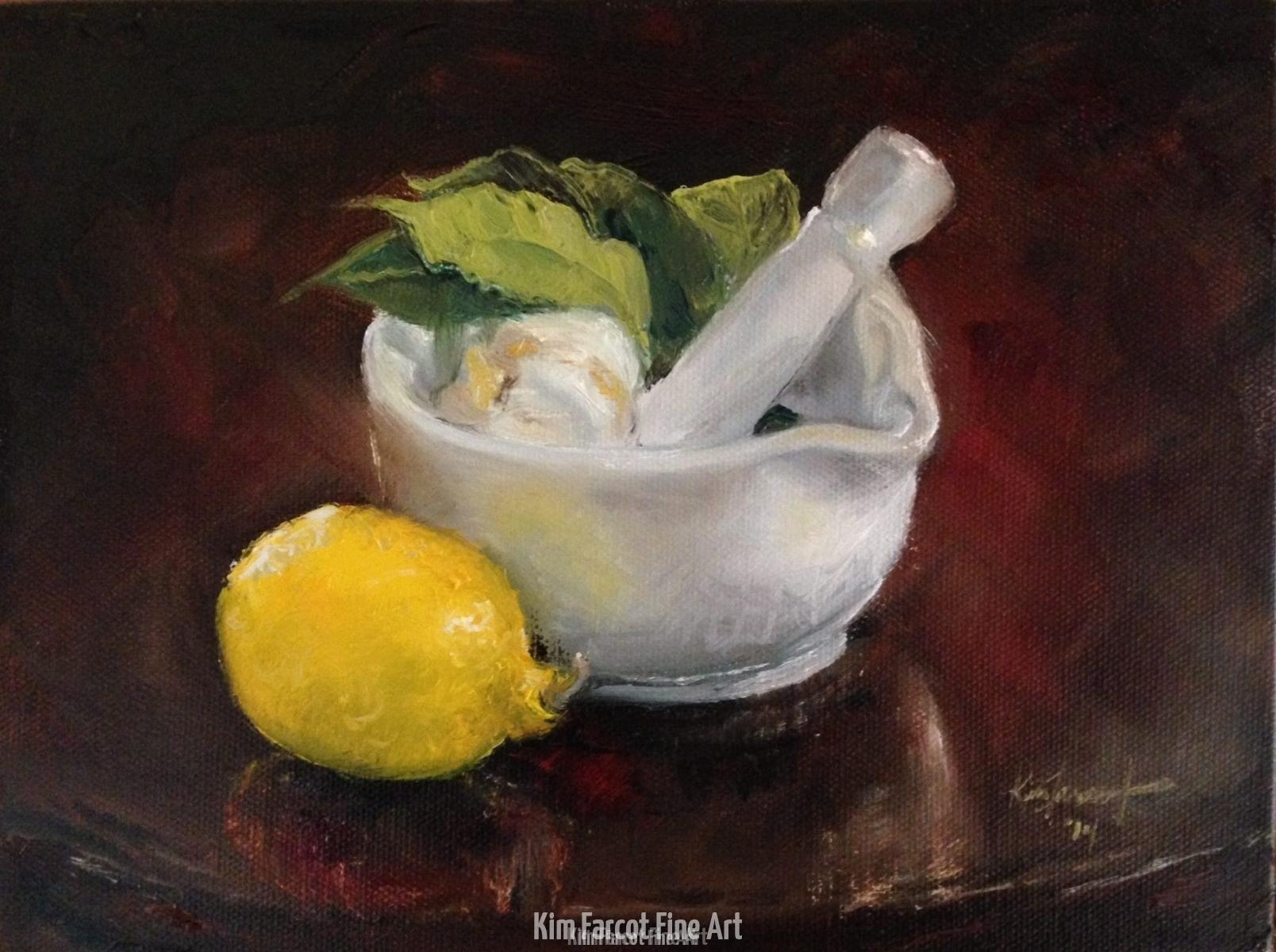 Lemon, Garlic, Bayleaf, private collection, Saudi Arabia