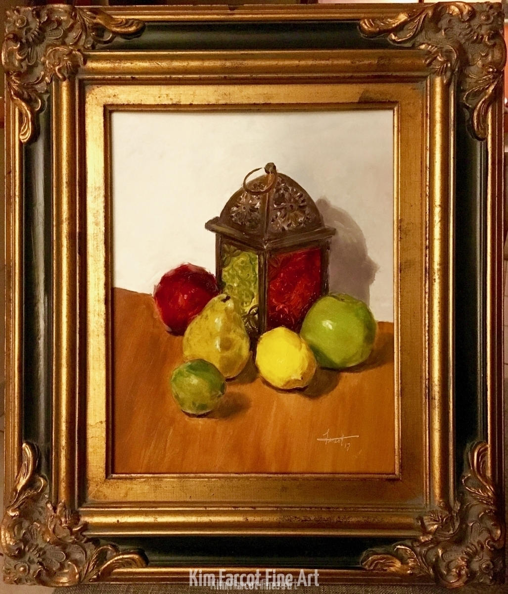Lantern & Fruit, available
