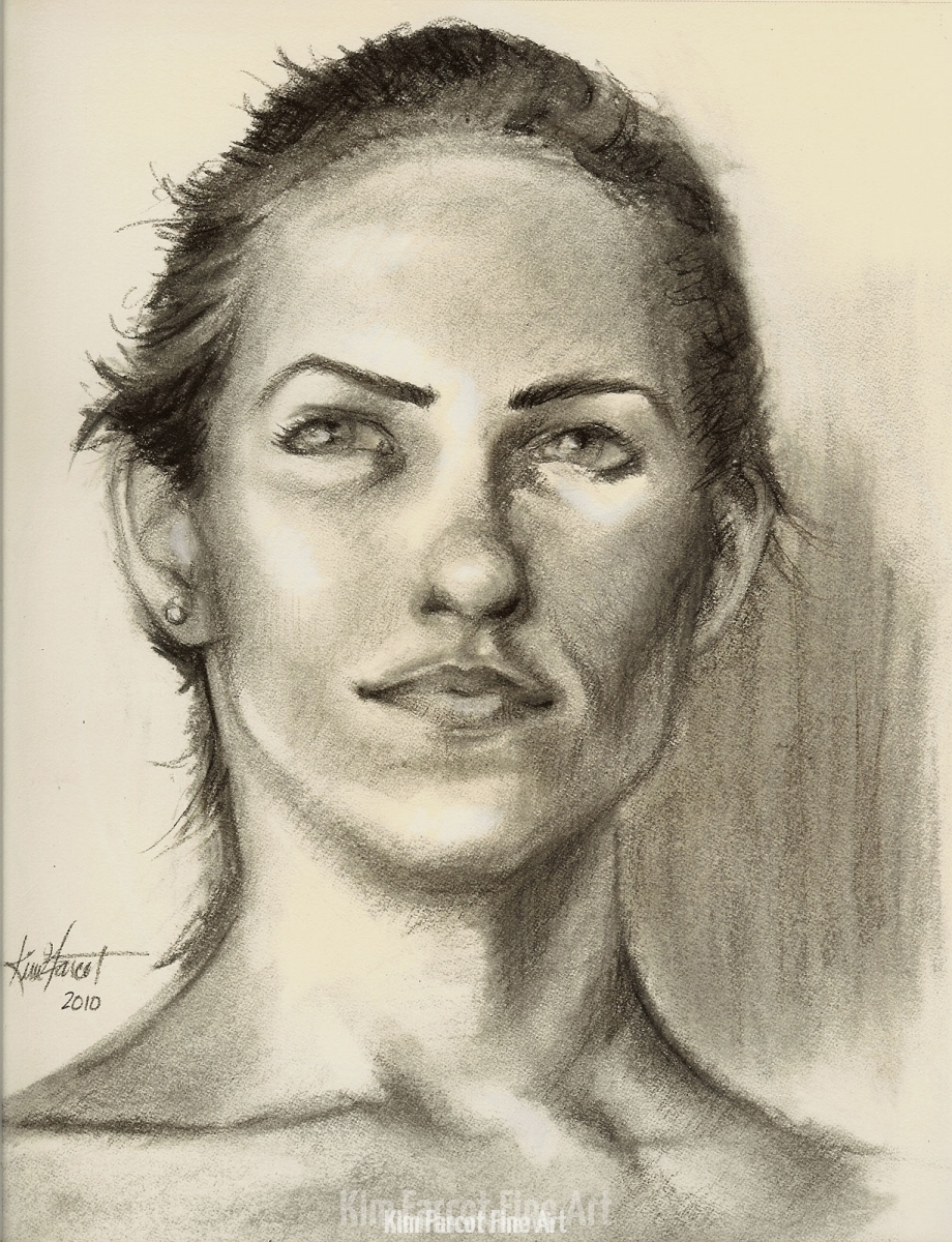 Charcoal Portrait, from life