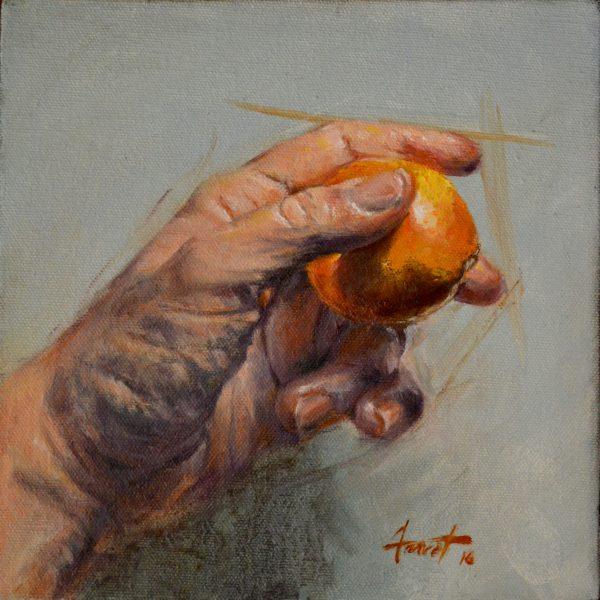Holding Orange, private collection, Saudi Arabia
