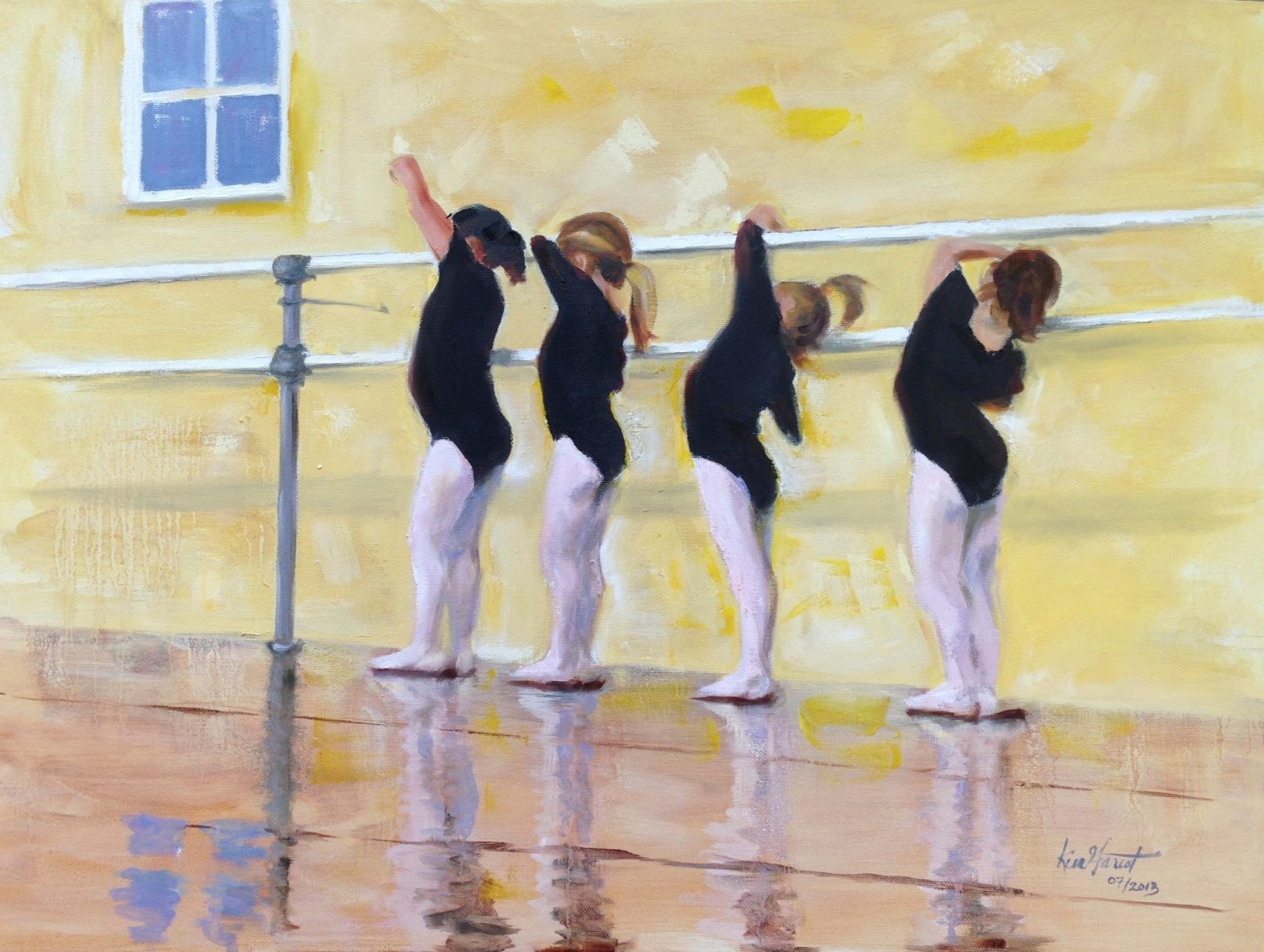 "Young Dancers 5, 24""x18"", oil, available"