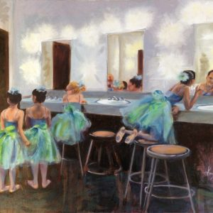 "Young Dancers in Green, oil 24""x18"", available"