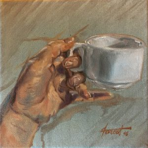 Holding Teacup, private collection, Saudi Arabia